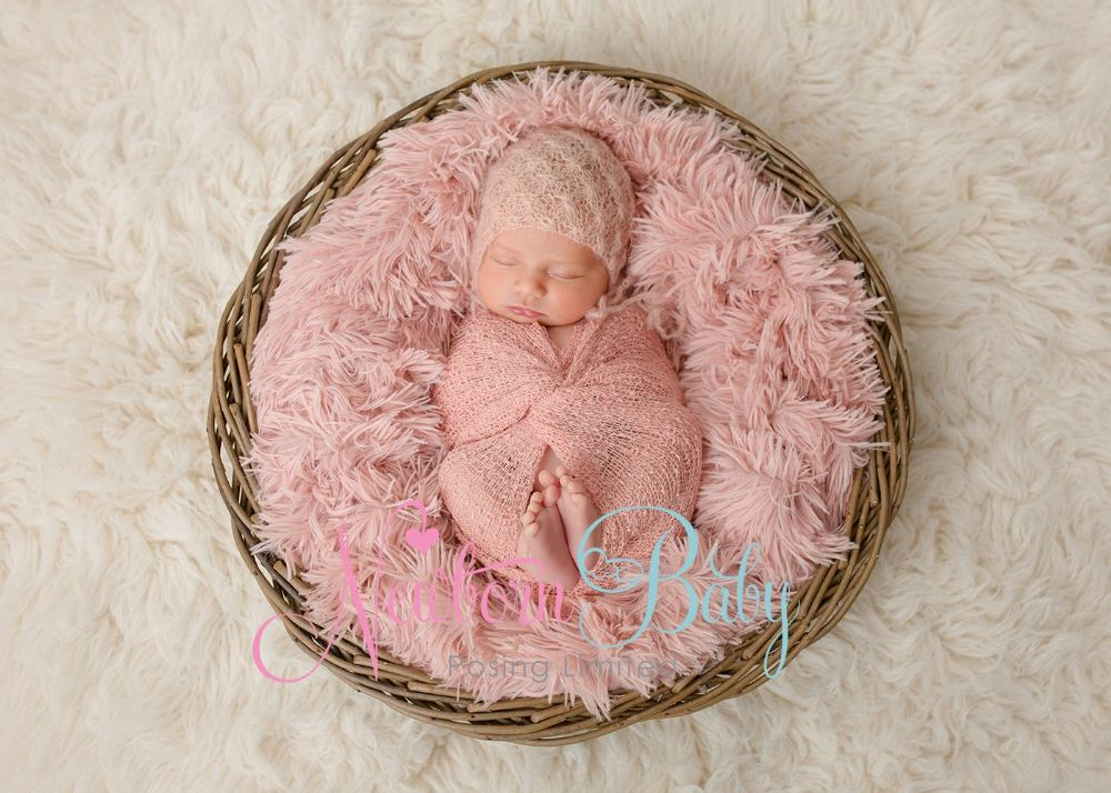 Large Round Basket Newborn Baby Posing Limited